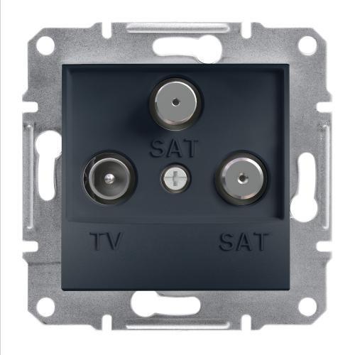 SCHNEIDER ELECTRIC - TV SAT SAT розетка крайна 1dB антрацит Asfora EPH3600171