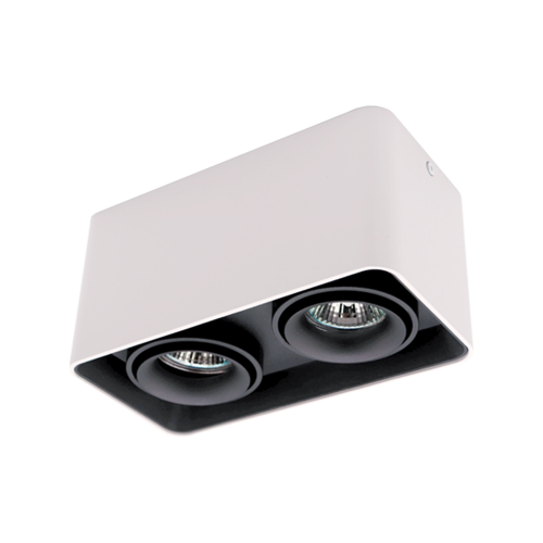 ELMARK - DL-044 Лунa за външен монтаж двойна черна/бяла квадратна 92DL044S2/BLWH