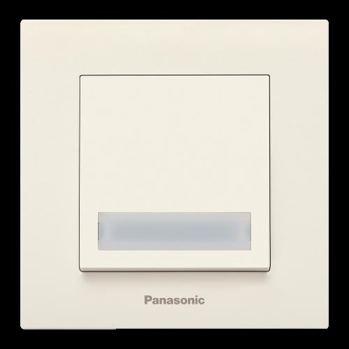 PANASONIC - Бутон звънец с табел Panasonic Kare крем WKTC00202BG‐EU1