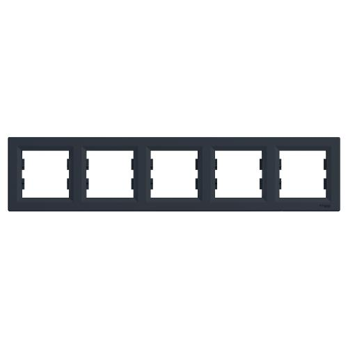 SCHNEIDER ELECTRIC - EPH5800571 Декоративна Рамка Петорна Asfora Антрацит