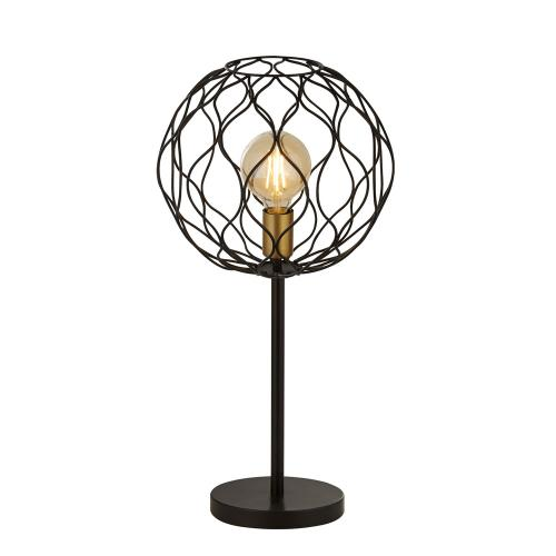 SEARCHLIGHT - Настолна лампа FINESSE 4508BK  E27, 1X60W