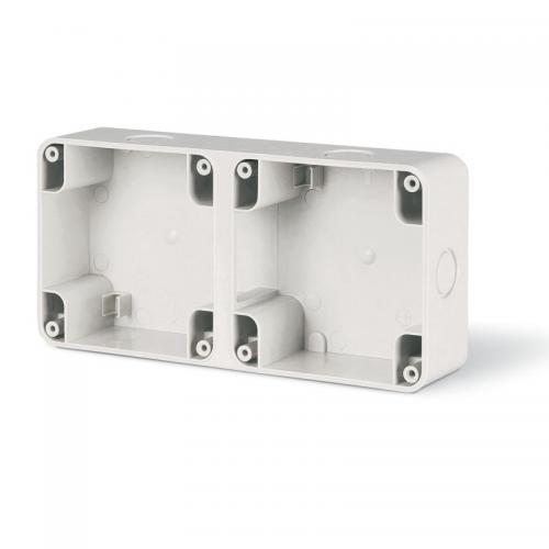 SCAME - Двойна кутия за външен монтаж, Protecta IP66 137.102