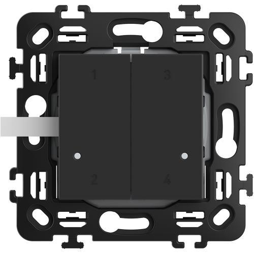 BTICINO - RG4575CW Сценариен ключ Smart 4 сцени БЕЗжичен с 2 мод. носеща рамка цвят Черен Classia Bticino с Netatmo