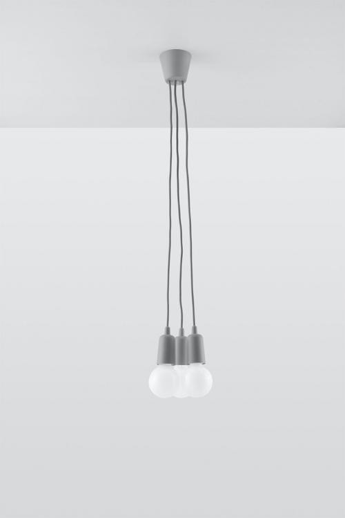 SOLLUX - Пендел  DIEGO 3 grey  SL.0576