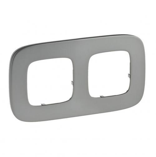 LEGRAND - Двойна рамка ALLURE 755502 светъл никел