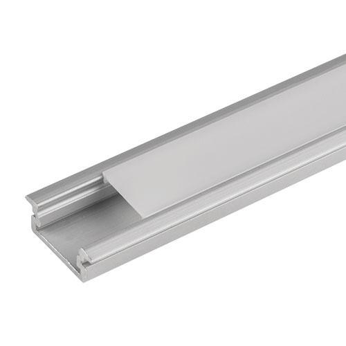 ULTRALUX - APN301 Алуминиев профил за LED лента, плитък - за вграждане, 3м