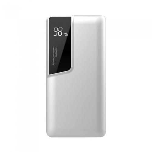 V-TAC - 10000 mAh Външна Батерия Дисплей USB Тип C Бяла SKU: 8870 VT-3511