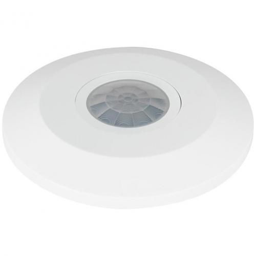 COmmel - Датчик за движение PIR, за открит монтаж на таван, 360°, обхват D6m @ h=2.5m, IP20, Slim, цвят Бял Commel 311-105
