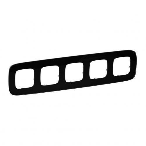 LEGRAND - Петорна рамка ALLURE 755535 черно стъкло