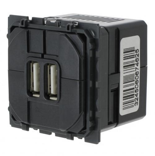 LEGRAND - Двоен USB контакт 2400mA 5V за зареждане 67462