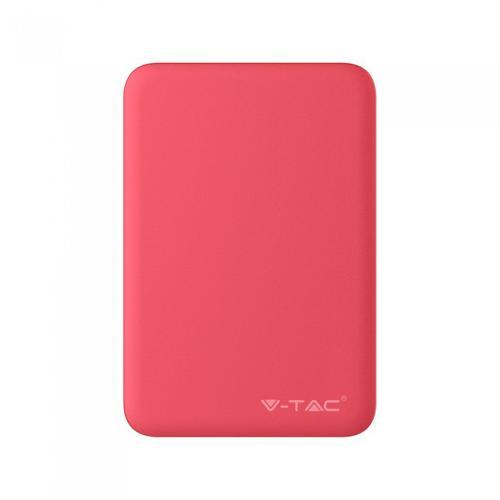 V-TAC - Външна батерия 5000 mA/h, червена, SKU: 8192 VT-3503