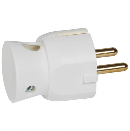 LEGRAND - 0 503 16 2P+E plug - 16 A - German standard - plastic side outlet - white - bulk