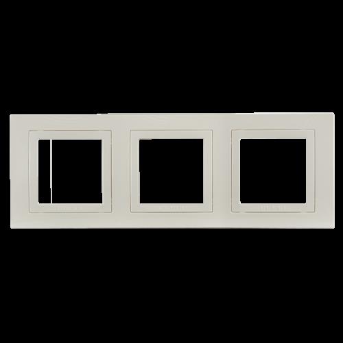 SCHNEIDER ELECTRIC - MGU2.006.25 декоративна рамка Unica Basic тройна слонова кост