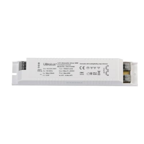 ULTRALUX - DDLP22040 Димиращ драйвер за LED панел 40W 850mA, 220-240V AC