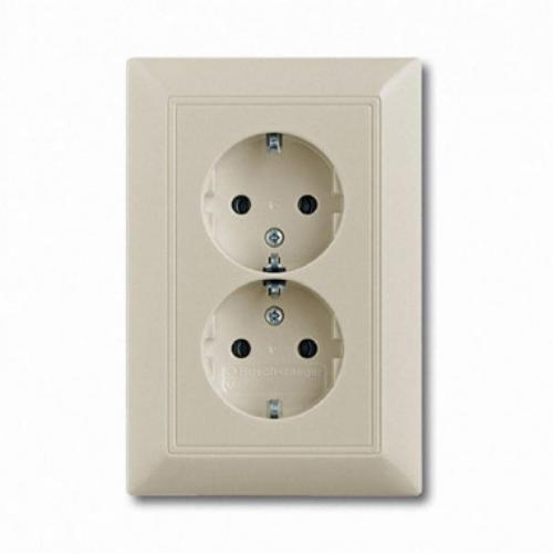 ABB - Double Socket outlets with screwless terminals 2014-0-1463