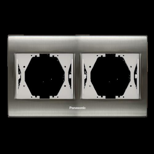 PANASONIC - Двойна рамка Инокс Thea Blue WBTF0802-5IN