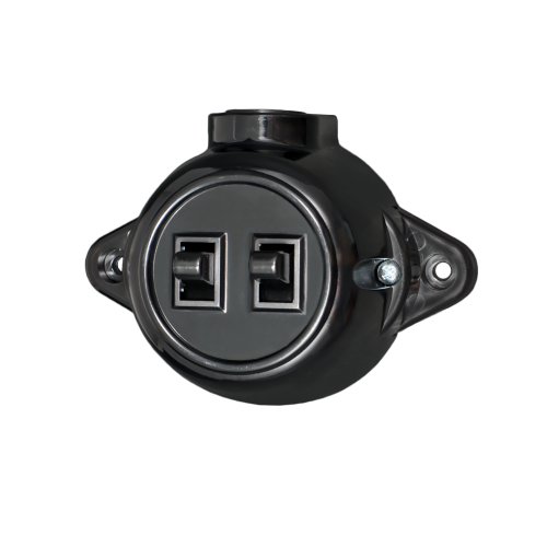 ATRA - Сериен ключ 10A открит монтаж IP21 черен 5119