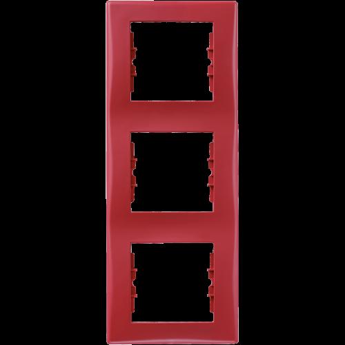 SCHNEIDER ELECTRIC - SDN5801341 декоративна рамка Sedna вертикална тройна червена