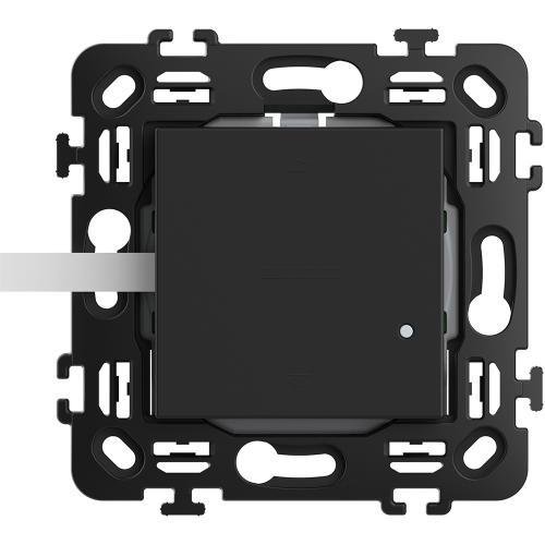 BTICINO - RG4027CW Ключ за щори Smart БЕЗжичен с 2 мод. носеща рамка цвят Черен Classia Bticino с Netatmo
