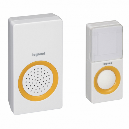 LEGRAND - Legrand 94222 Wireless Doorbell 15 Melodies Plug in 220V White with Yello