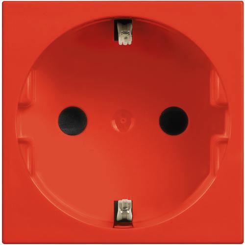 BTICINO - R4141R Контакт шуко 2Р+Е 16А Classia червено