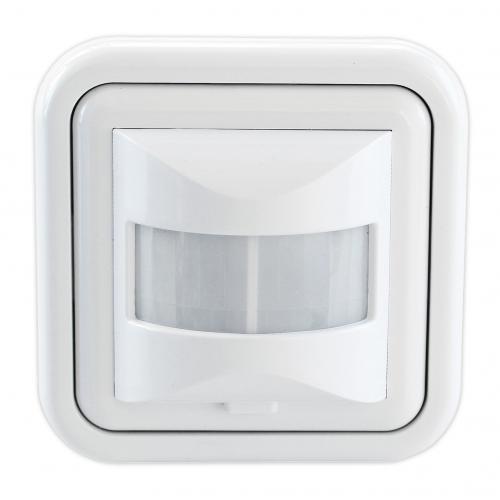 COmmel - Датчик за движение PIR, за вграждане в стена, 160°, обхват 9m @ h=1.1m, IP20, изисква неутрала, цвят Бял Commel 312-101