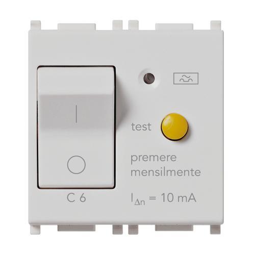 VIMAR - 14411.06.SL - Прекъсвач 1P+N C6 RCBO 120-230V 10mA Silver