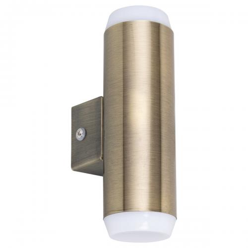 RABALUX - 8939 Catania outdoor wall lamp, in-built LED, bronze 2x4W 2x350lm 3000K IP44