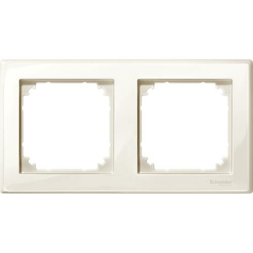 SCHNEIDER ELECTRIC -  MTN478244 M-Smart frame, 2-gang, white, glossy