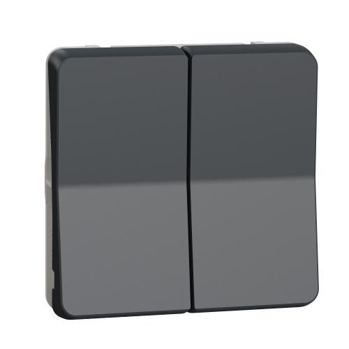 SCHNEIDER ELECTRIC - Бутон за щори механизъм IP55 Mureva цвят черно MUR35042