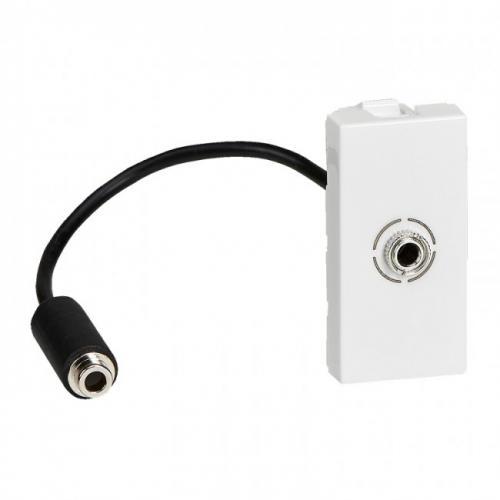 LEGRAND - 78779  Розетка за 3.5мм2 аудио жак 1 мод. с кабел 15см. цвят бял Mosaic