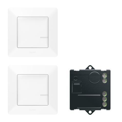 LEGRAND - Комплект девиаторна инсталация Netatmo 752150 Valena Life включващ микромодул и 2х безжични ключа