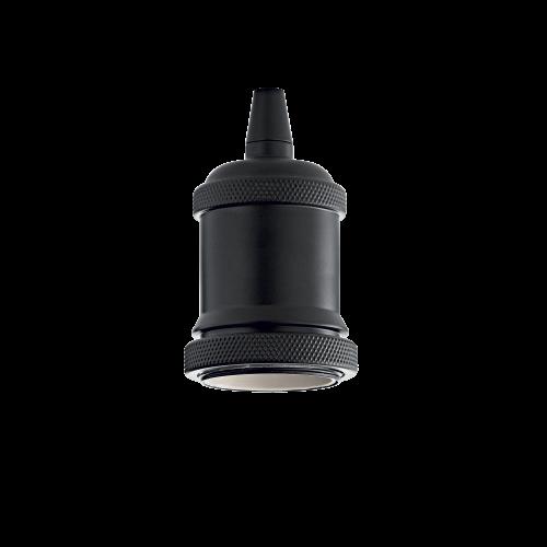 IDEAL LUX - Фасунга PORTALAMPADA E27 GHIERA NERO 249209