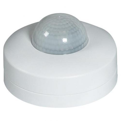 COmmel - Датчик за движение PIR, за открит монтаж на таван, 360°, обхват D12m @ h=2.5m, IP20, цвят Бял Commel 311-151