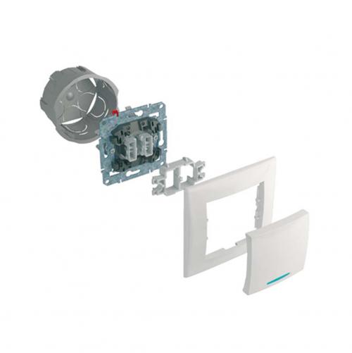 SCHNEIDER ELECTRIC - SDN2710270 Двойна USB розетка Sedna, графит