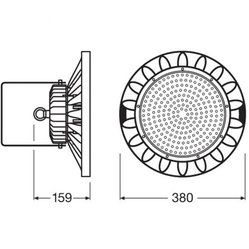 OSRAM - LED Камбана HIGH BAY LED 200W 4000K BK