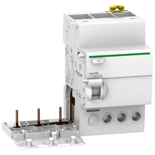 SCHNEIDER ELECTRIC - ДТЗ модул Acti 9 Vigi iC60 3P 63A 30mA тип AC 6kA 3.5 мод. A9V41363