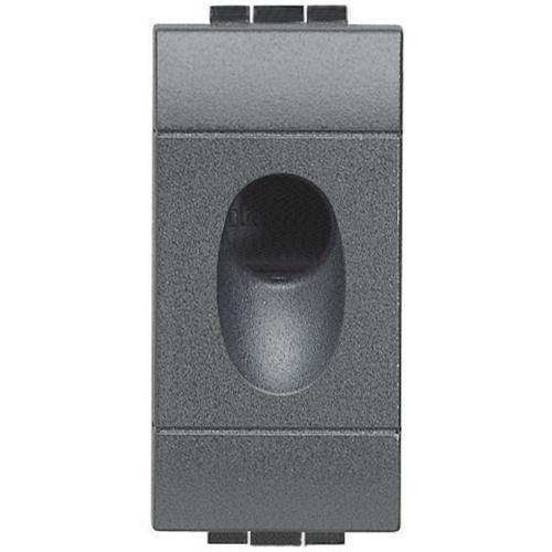 BTICINO - L4953 Празен модул с отвор ф9мм едномодулен антрацит Livinglight