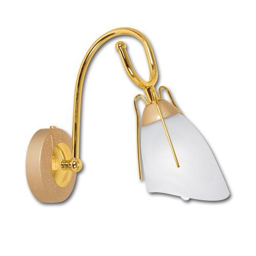 LIS LIGHTING - Аплик RONDO 0234K-H40 E14, 1x40W, H25, D12cm, златни перли