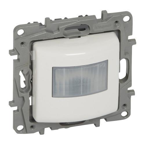 LEGRAND - 764583 Датчик за движение 3-100W LED 3-250VA всички трафове 3-250W 230V (НЕ изисква неутрала) NILOE бялo