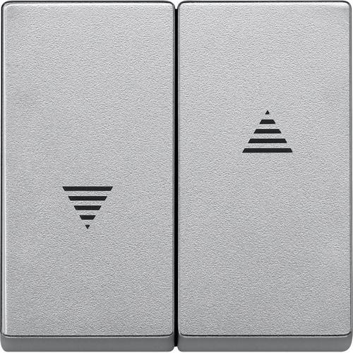 SCHNEIDER ELECTRIC - MTN435560 Лицев панел за ключ/бутон за щори алуминий System M