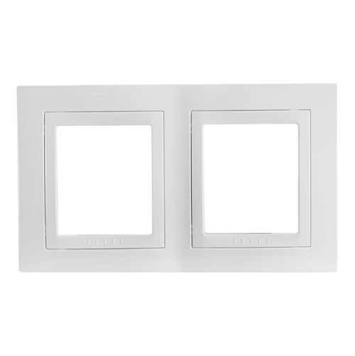 SCHNEIDER ELECTRIC - MGU2.004.18 декоративна рамка Unica Basic двойна бял