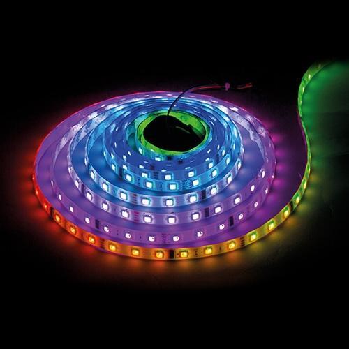 ULTRALUX - LNW281260DIG Дигитална LED лента, SMD5050, 14.4W/m, 5V DC, 60 LEDs/m, IC WS2812B, 60 пиксела/m, неводоустойчива