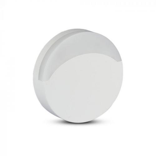 V-TAC PRO - LED Нощна Лампа за Контакт Кръгла със сензор ден/нощ 3000K SKU: 824 , 4000К-825, VT-82