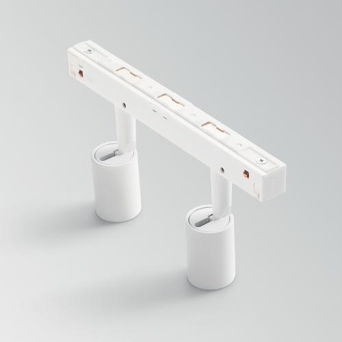 IDEAL LUX - Двоен прожектор за модулна система OXY TRACK DOUBLE 22W 3000K 34° UGR<19 - 248875 WHITE