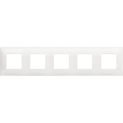 BTICINO - R4802M5RW cover plate - 2+2+2+2+2 horizontal/vertical installation modules - White
