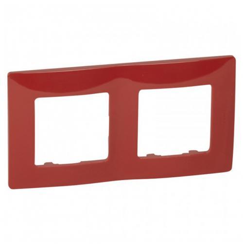 LEGRAND - Двойна рамка NILOE 665022 червен