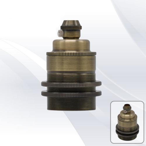 TNL - 7RE27R4ABG Fitting е27 metal antique brass 2 rings
