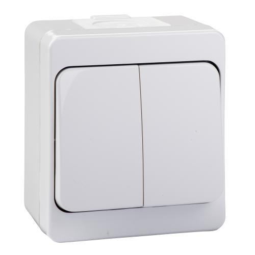 SCHNEIDER ELECTRIC - NML0300121 Сериен ключ 10A за открит монтаж Nemliyer бял
