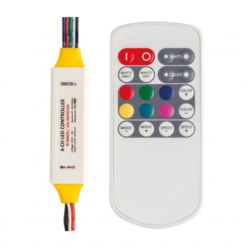 ULTRALUX -  P5RGBWRF ПРОФЕСИОНАЛЕН RF КОНТРОЛЕР ЗА RGBW LED ОСВЕТЛЕНИЕ 6-24V DC, 3X2.5+4A, IP63